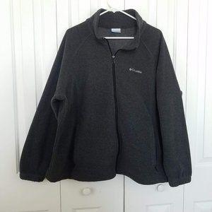 Columbia Fleece Dark Grey With Zipper Pockets